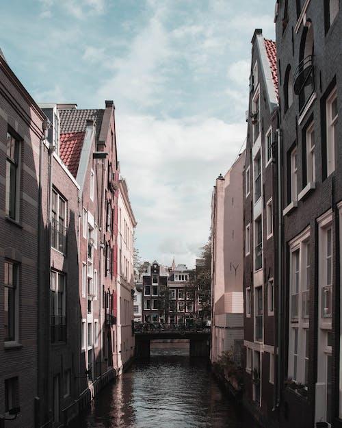 Ingyenes stockfotó ablakok, csatorna, ég, építészet témában