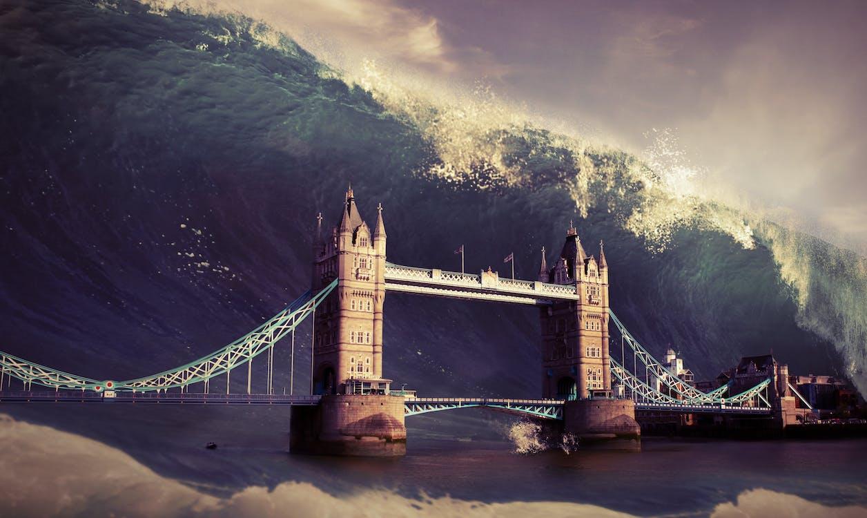 apocalypse, background, bridge