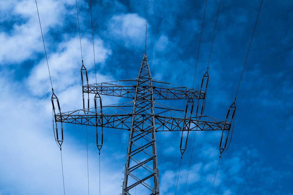 blue, current, electricity
