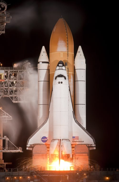 Nasa Space Shuttle Taking Off