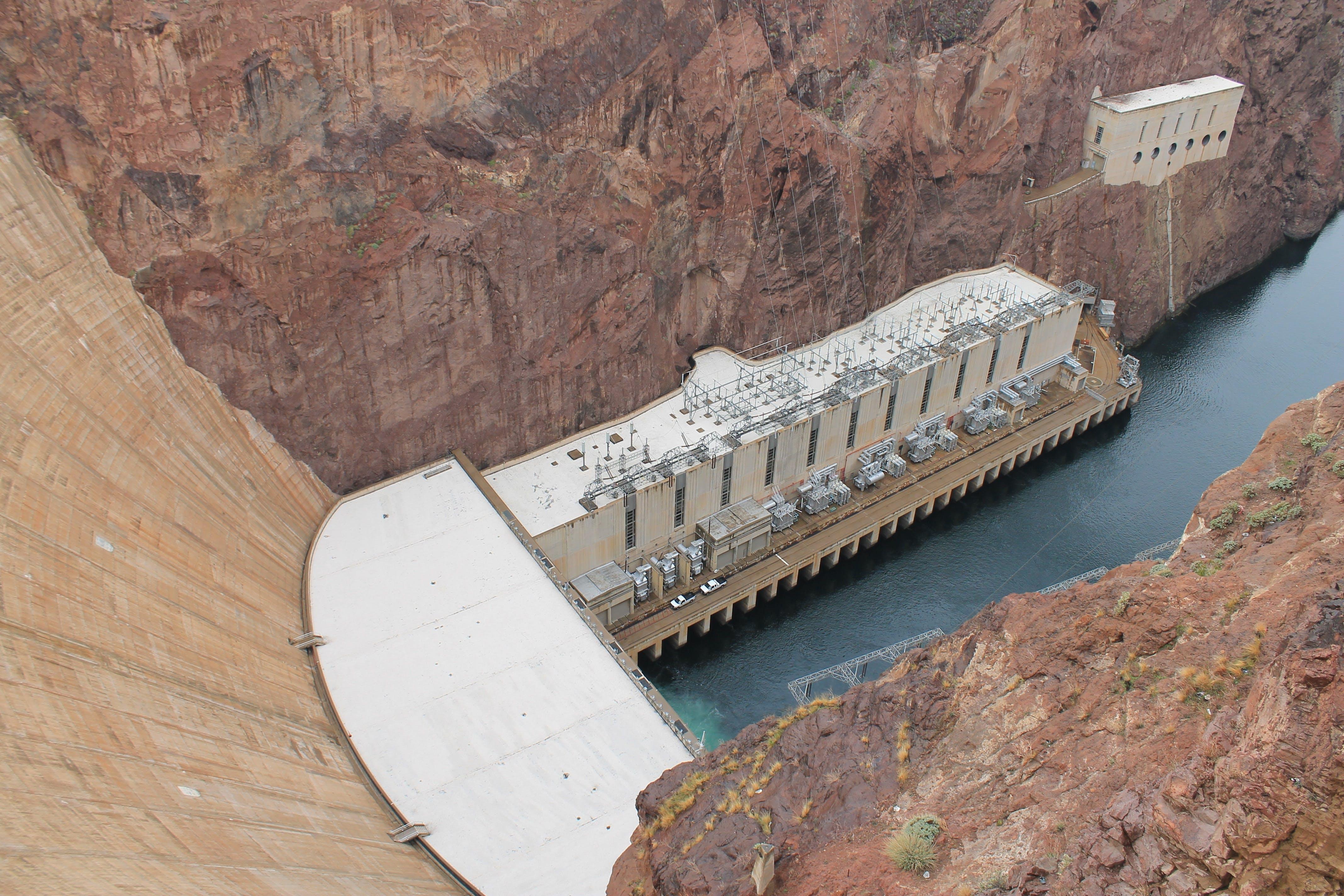 Water Dam Between Rocks