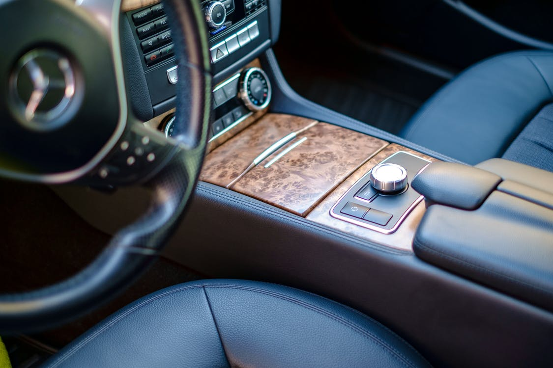 Brown Car Center Console