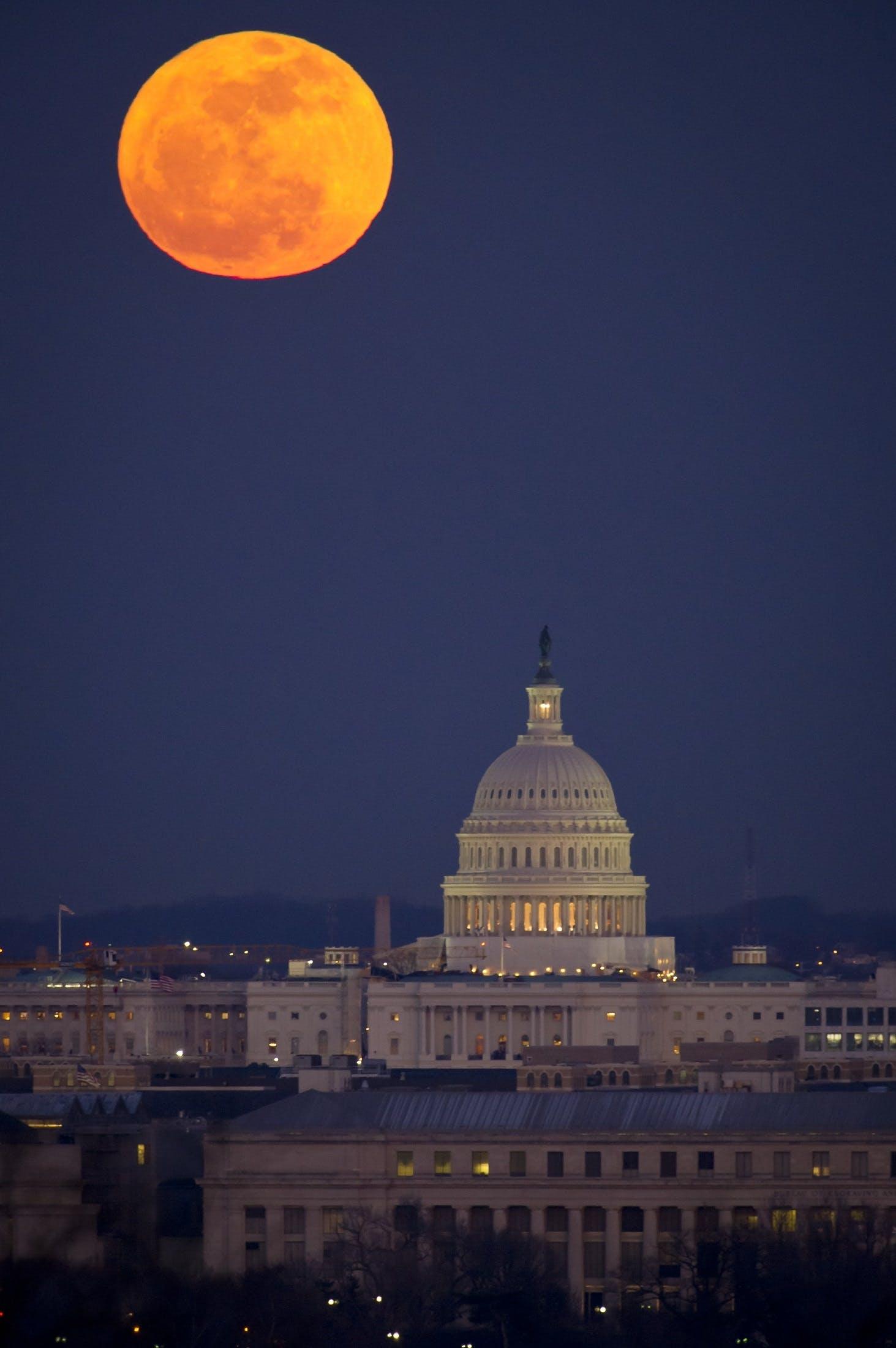 Full Moon on Capitol Hill Washington