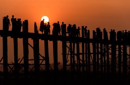 Photos gratuites de coucher de soleil, coucher du soleil, mandalay