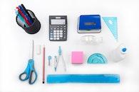 desk, ruler, pencil
