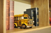 wood, books, vehicle