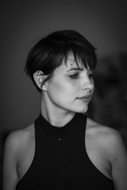 Grayscale Photography A Woman