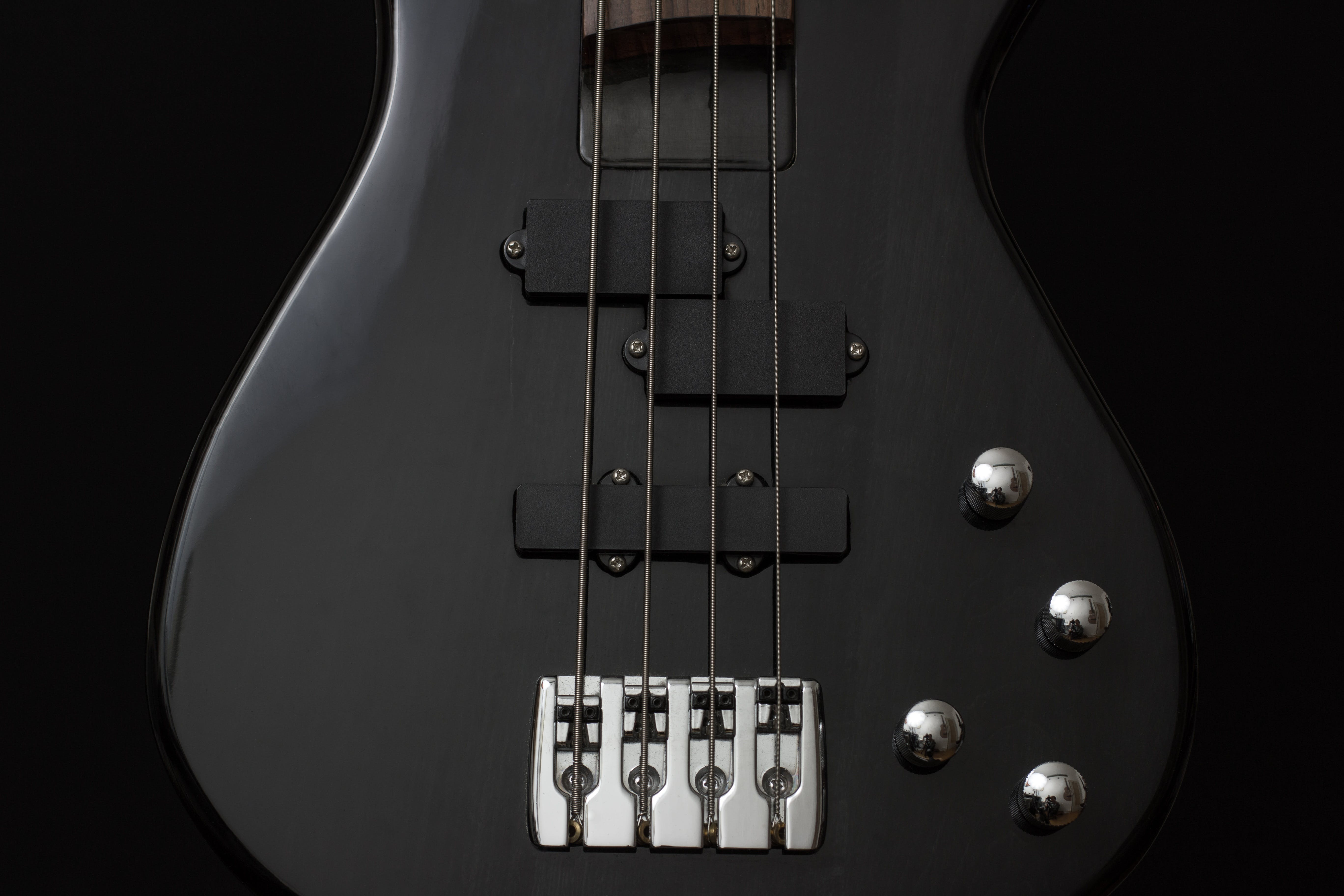 Black 4 Stringed Guitar