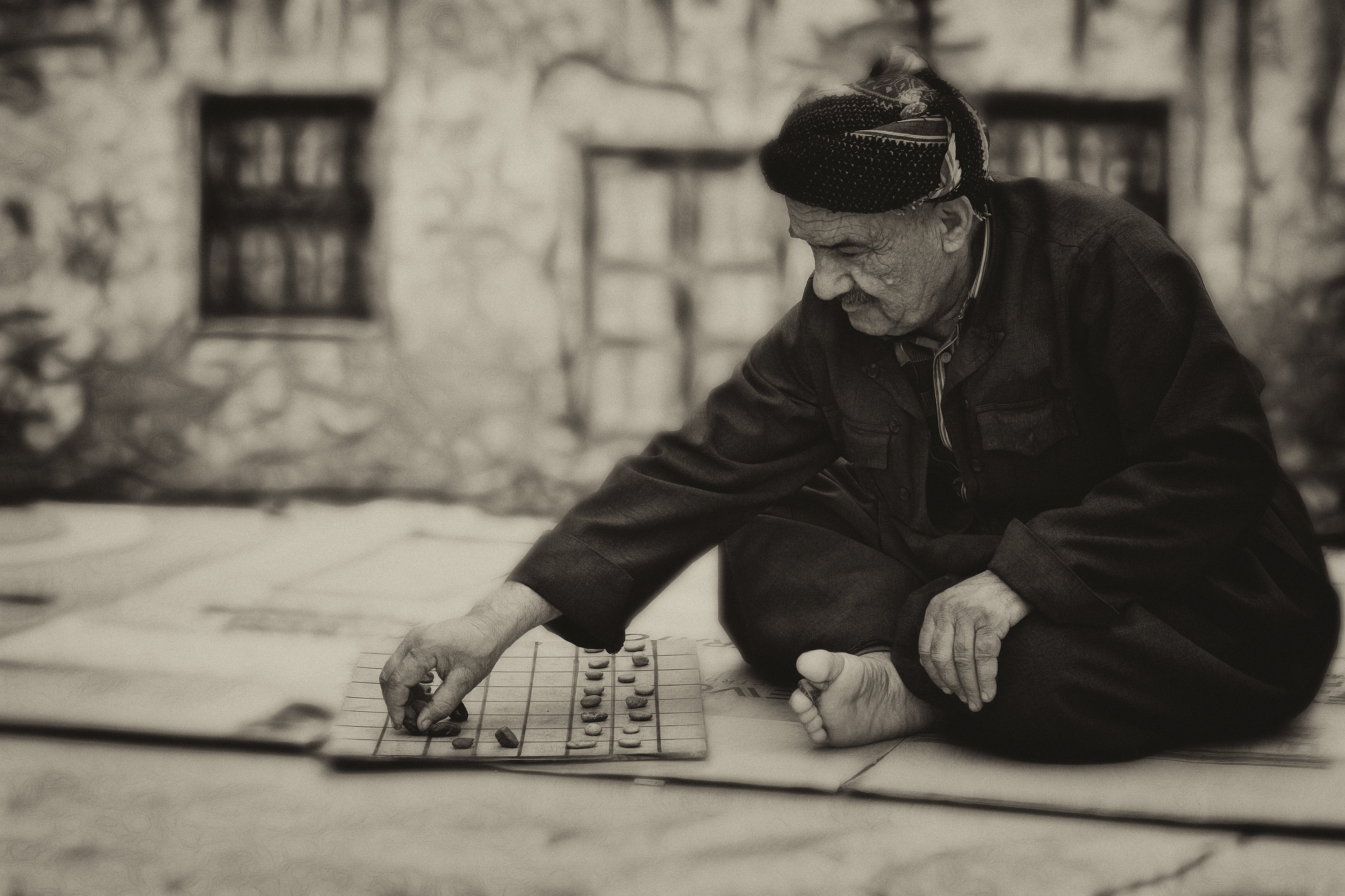 Free stock photo of board game, elderly, man, old