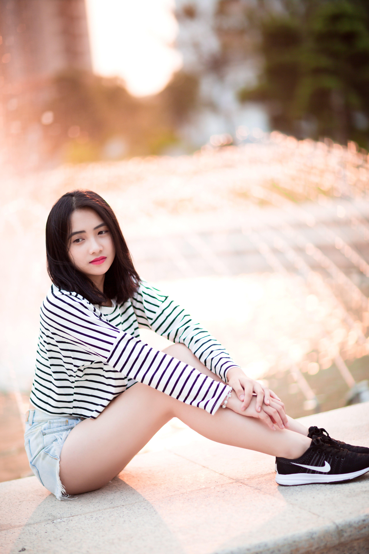 aşındırmak, Asyalı kadın, asyalı kız, boş zaman içeren Ücretsiz stok fotoğraf