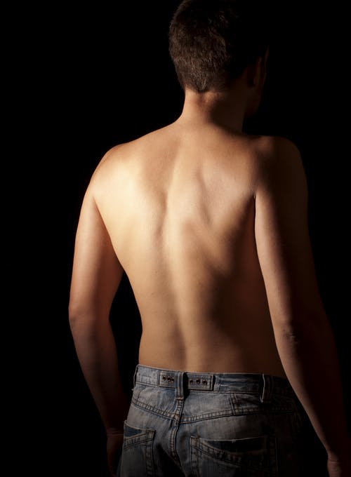 Man Showing His Back