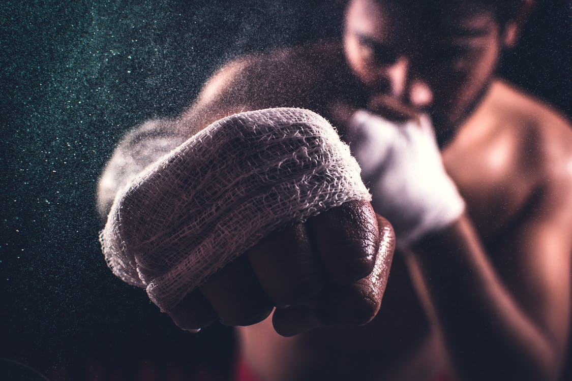 Selective Focus Of A Boxer's Fist