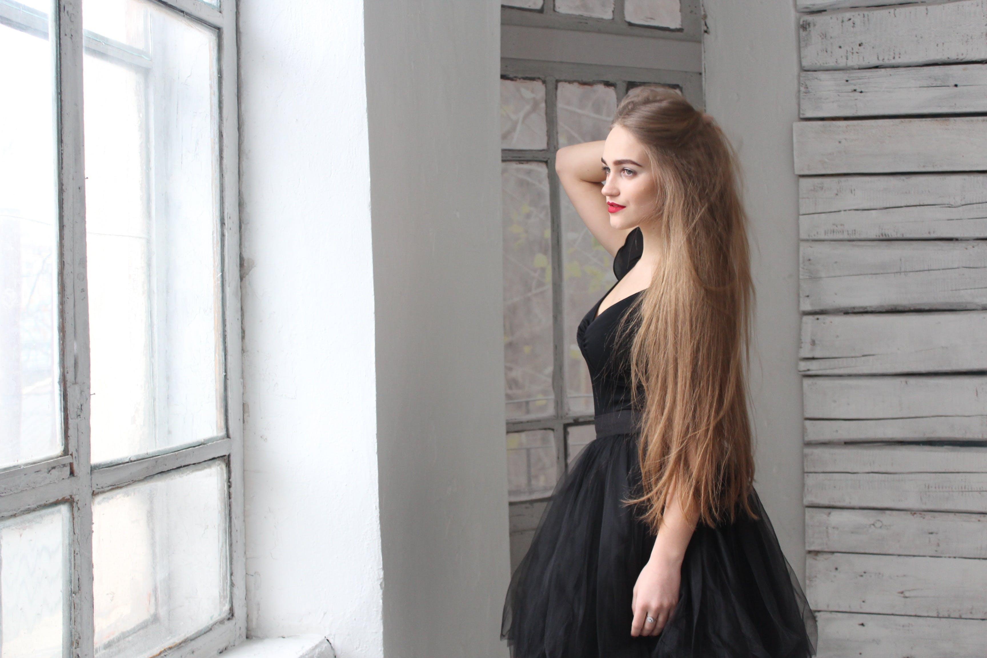 Free stock photo of girl, thoughtfulness, white hall