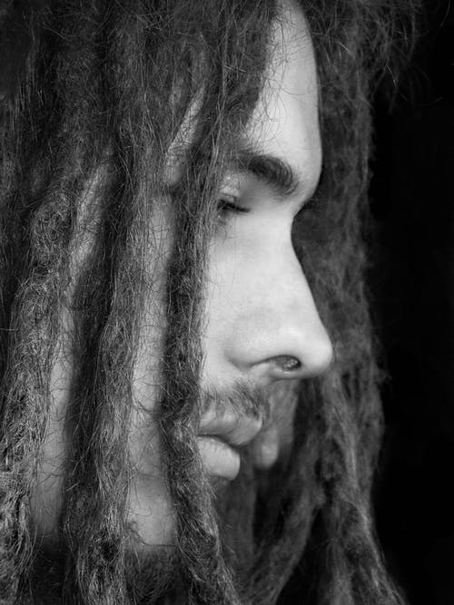 Gratis stockfoto met alleen, close-up, donker, dreadlocks