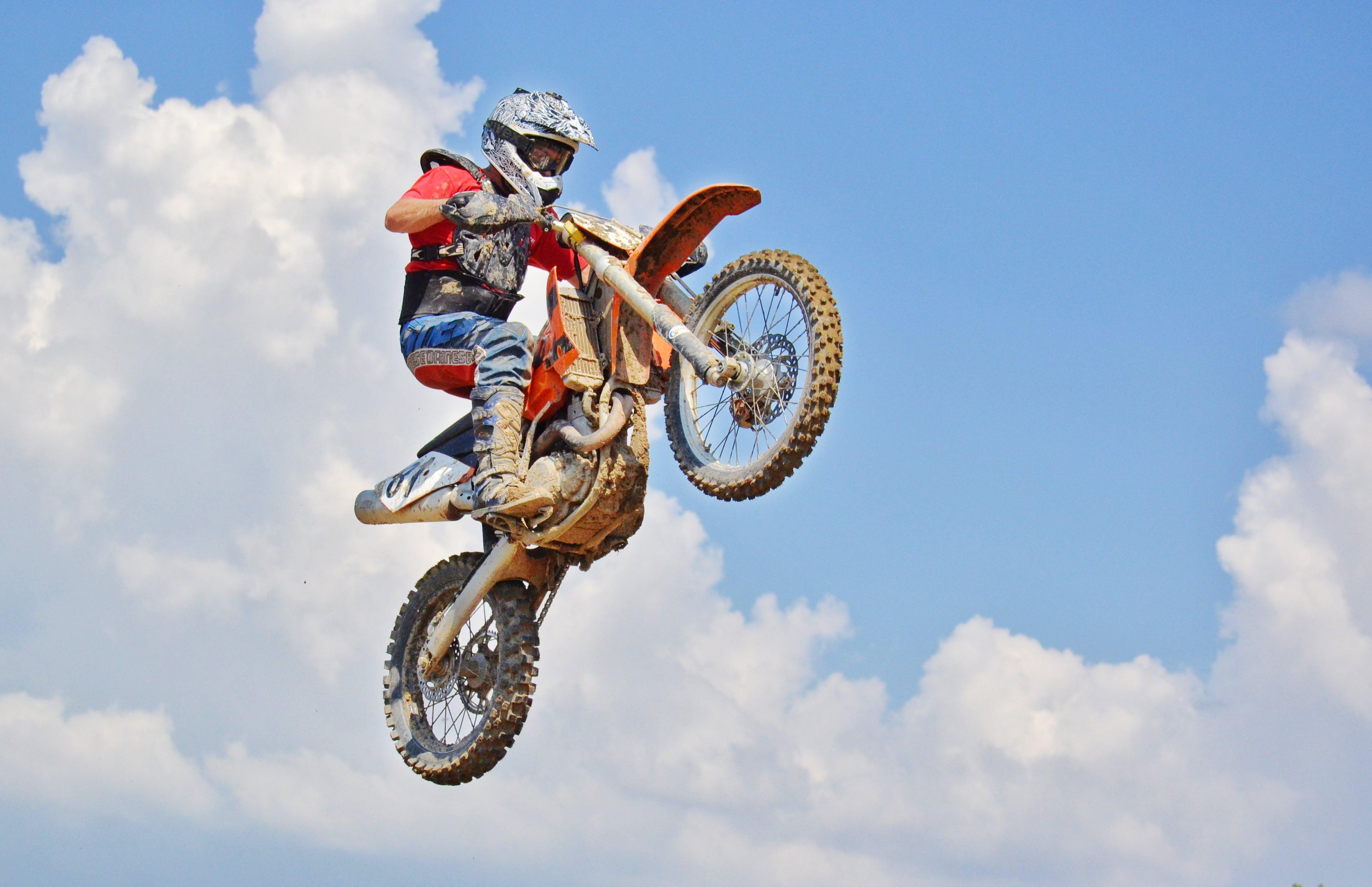 Man On A Motocross Dirt Bike