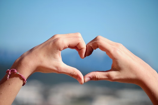 Free stock photo of hands, love, heart, summer