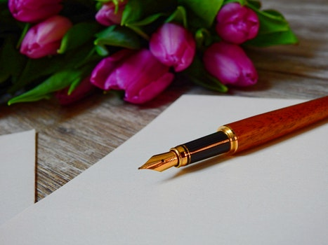 Free stock photo of love, romantic, pen, leaf