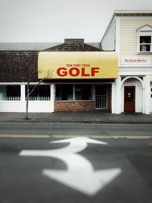 Free stock photo of abandoned, abandoned street, empty street, golf