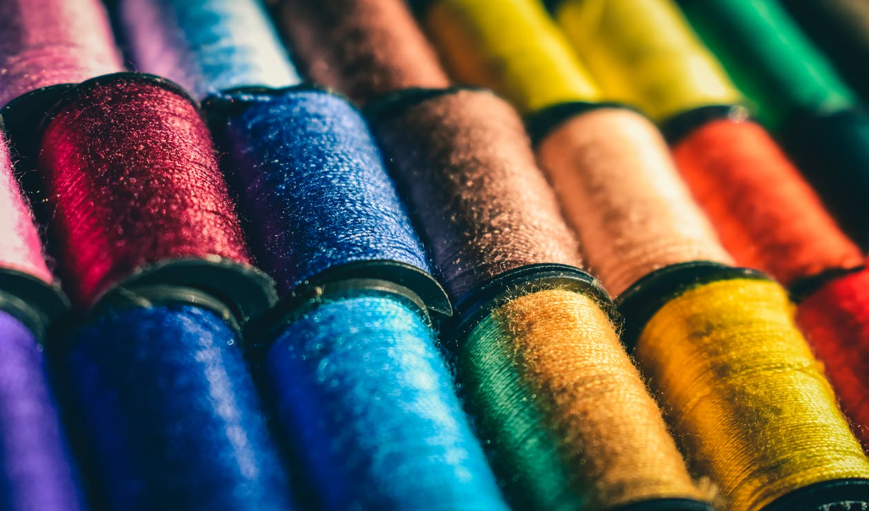 Assorted-colored Thread Lot