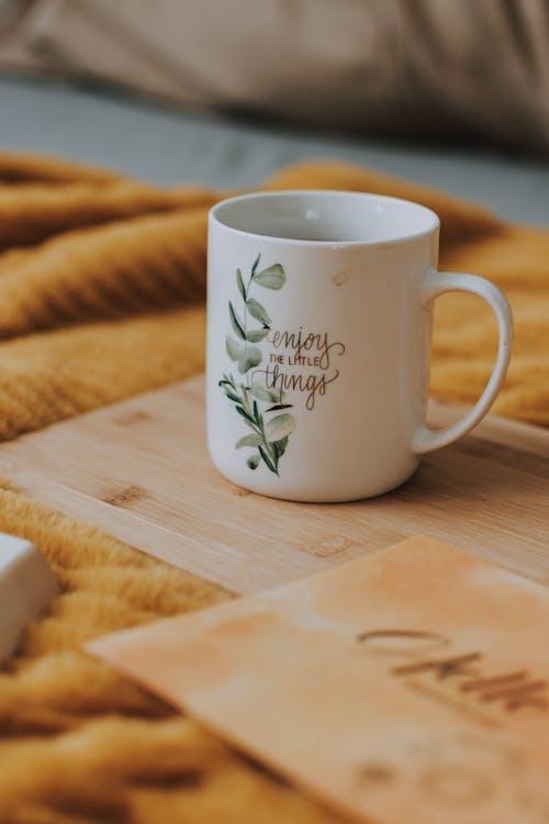 White Floral Ceramic Mug