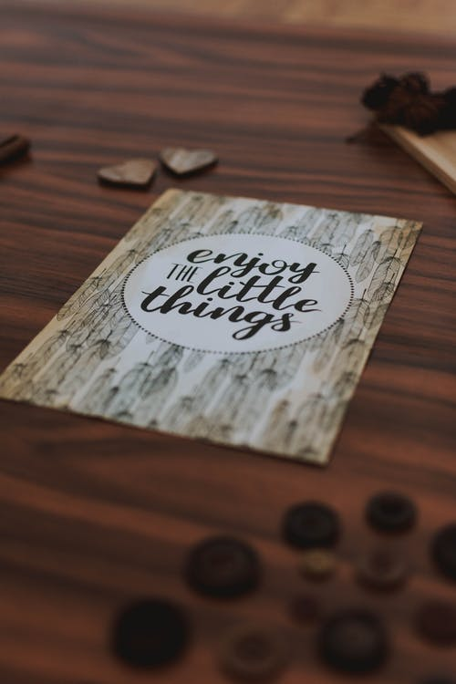 Brown Enjoy the Little Things-printed Decorative Board