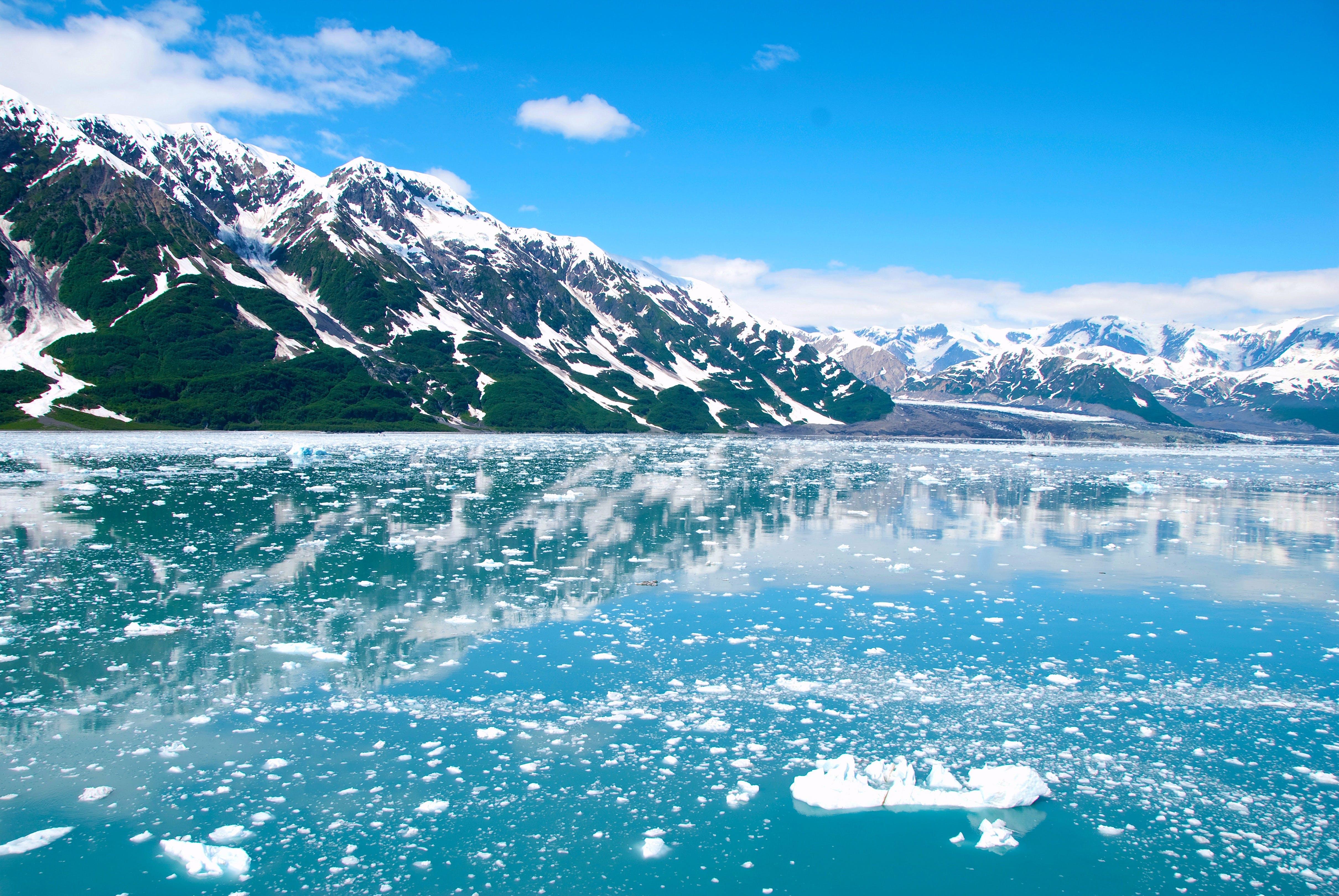 Kostenloses Stock Foto zu alaska, berge, blauer himmel, eis