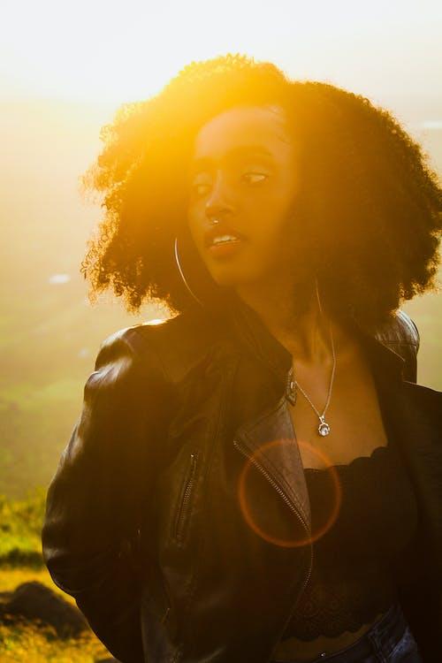 Free stock photo of #outdoorchallenge, beautiful girl, black hair, black model