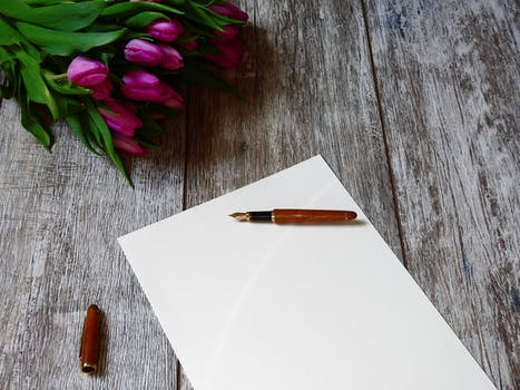 Blank Paper With Pen And Coffee Cup On Wood Table 183 Free