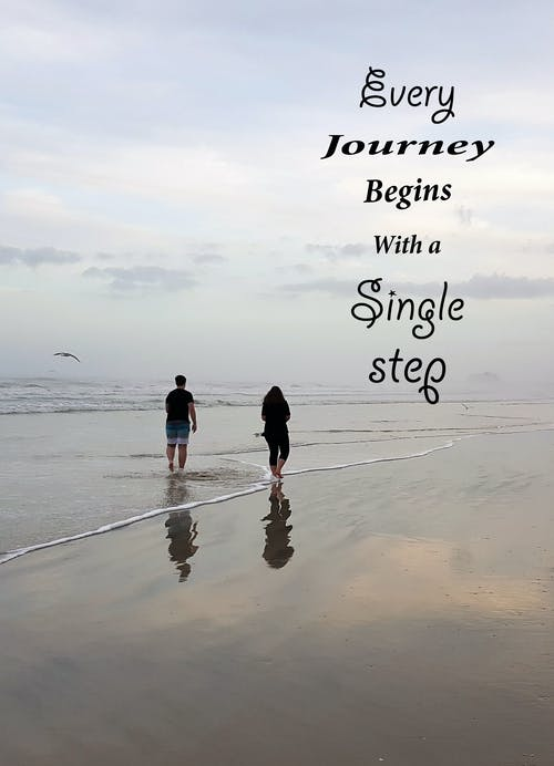 Free stock photo of beach, journey, ocean, quote