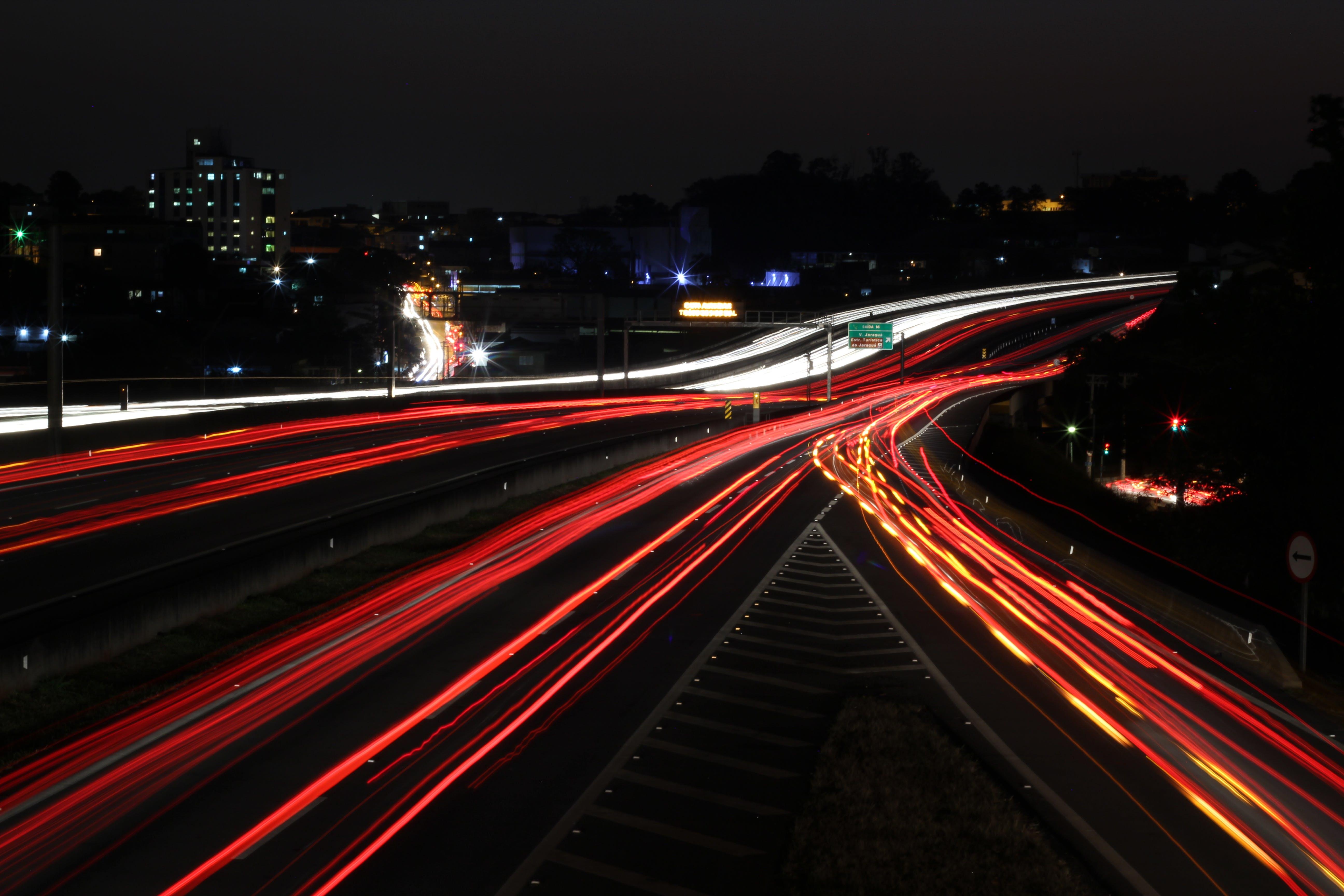 blur, bridge, buildings