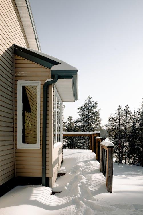 Biege Wooden House
