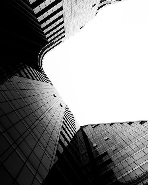 Foto profissional grátis de alto, arquitetura, arquitetura contemporânea, artigos de vidro