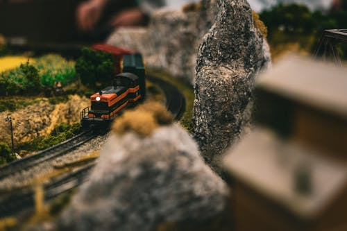 Close-up Photography of a Toy Train