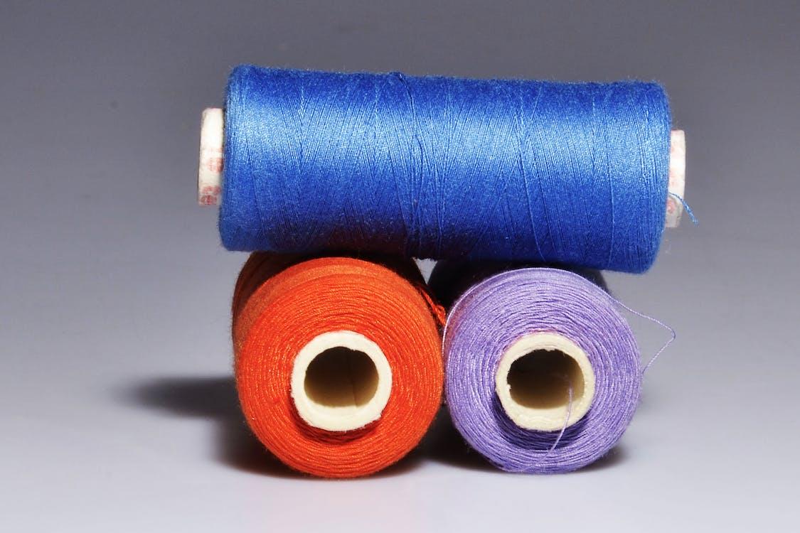 blau, faden, farben