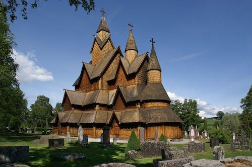 heddal挪威, heddal木板教堂, stabkirche, 修道院 的 免费素材照片