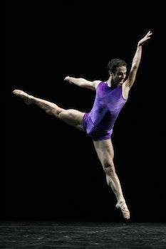 Man Performing Ballet Dancing