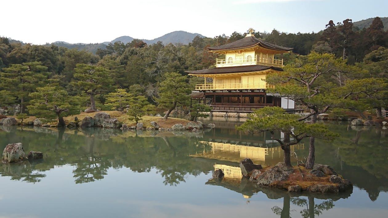 kinakaku-ji, kyoto, αντανάκλαση