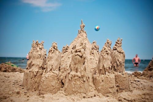 Základová fotografie zdarma na téma hrad z písku, léto, lidé, moře