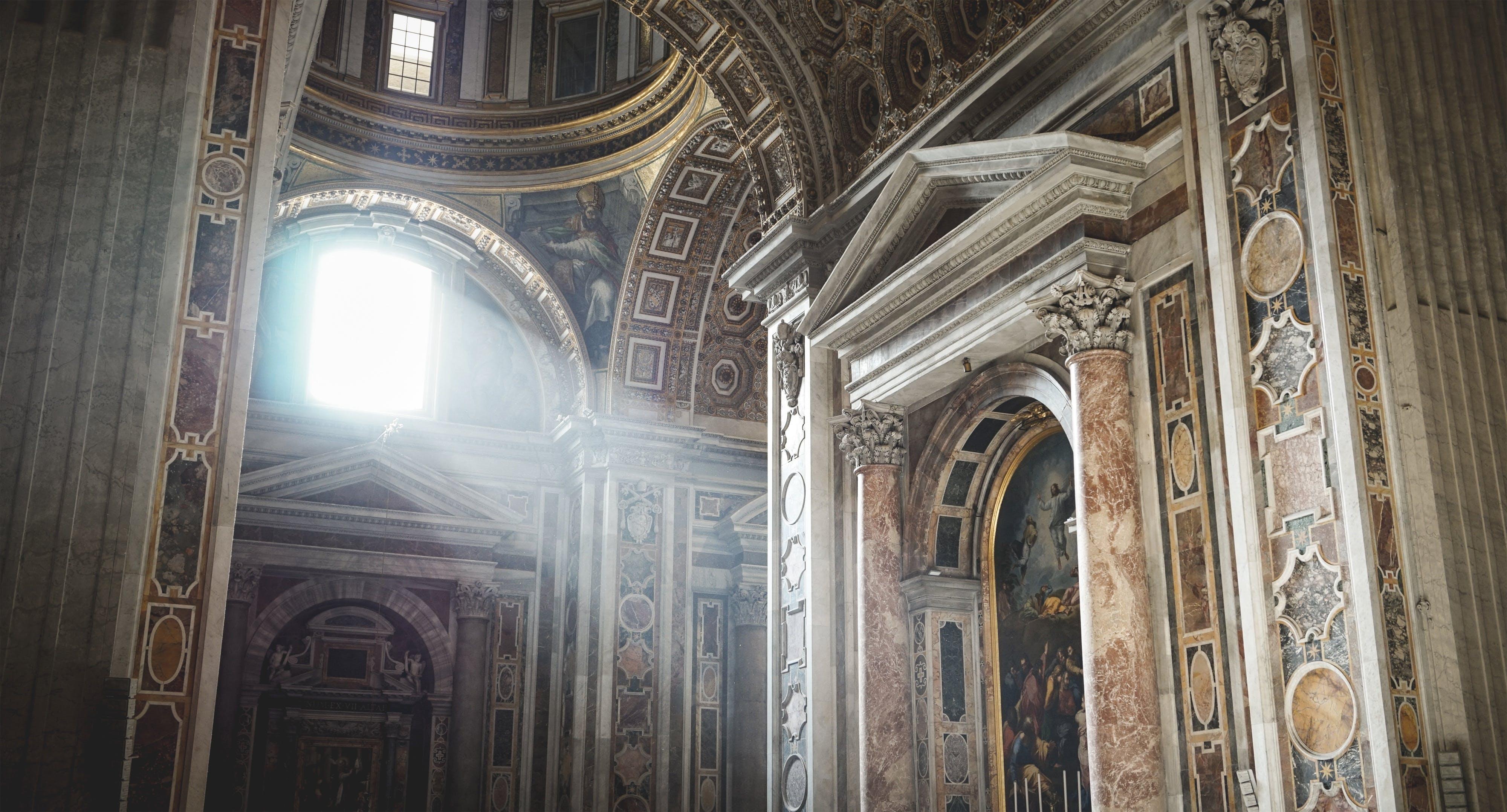 Beige and White Church Interior