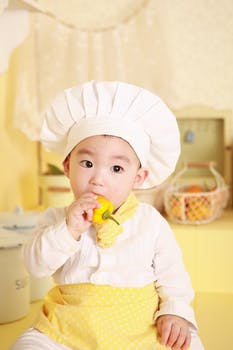 Boy Wearing Chef Hat