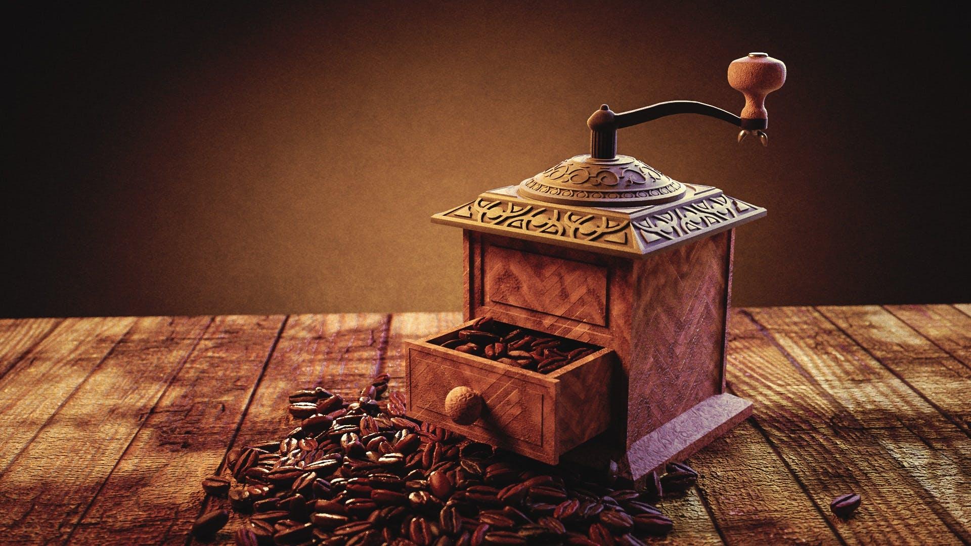 Vintage Orange Coffee Grinder