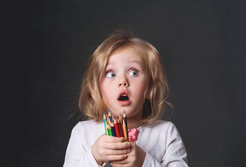 Free stock photo of back to school, beautiful, child, color pencils