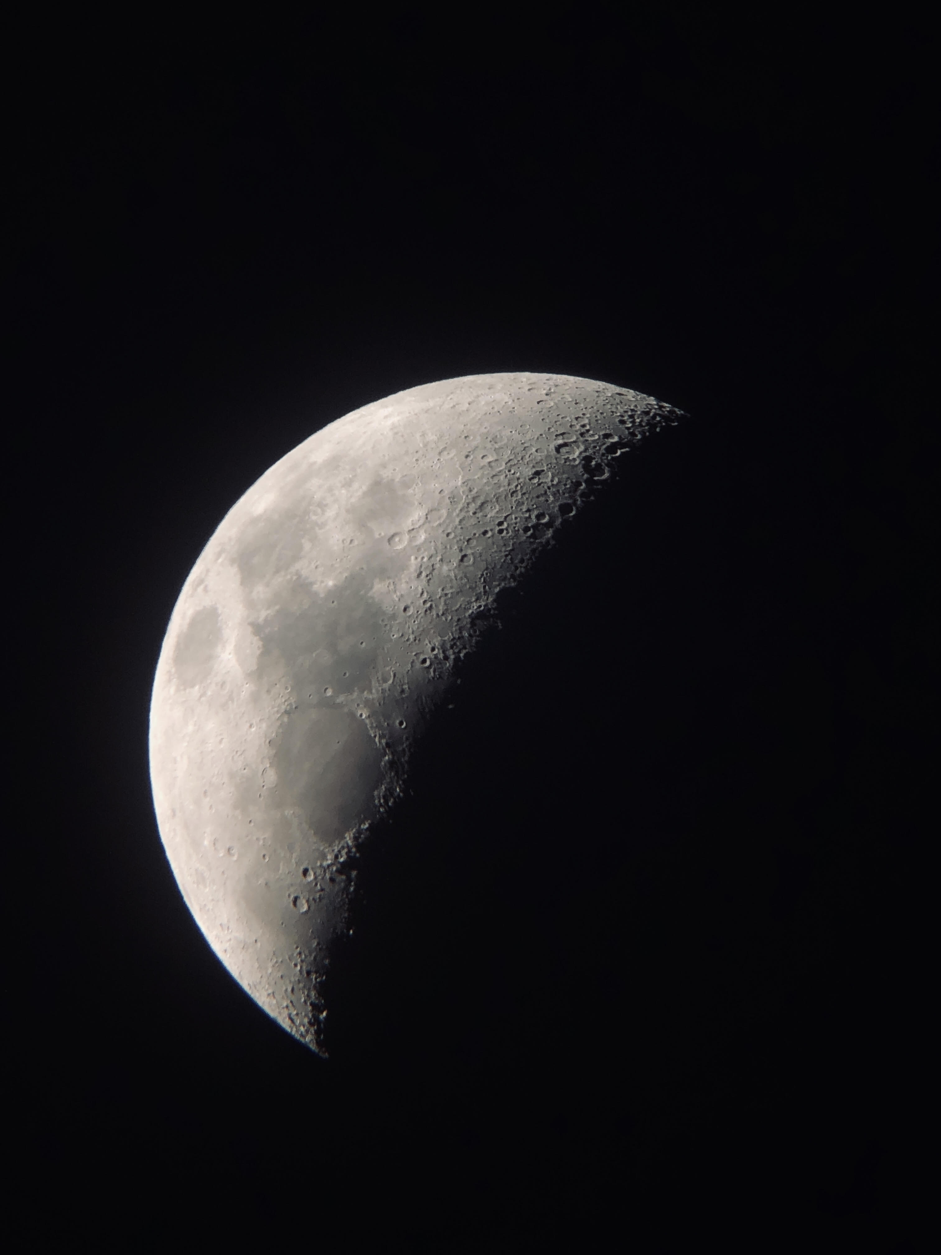 moon in dark night sky