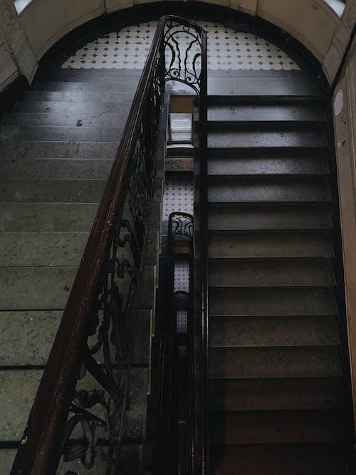 Escaleras De Hormigón Gris Vacías