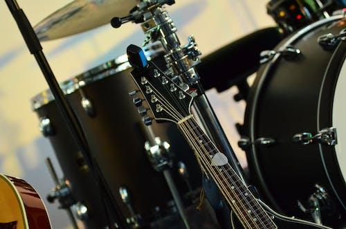 吉他, 弦樂器, 特寫, 鼓 的 免费素材照片
