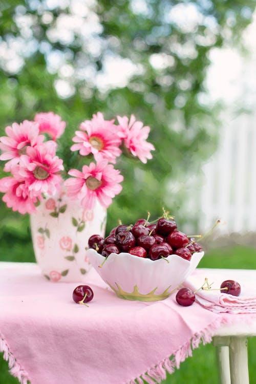 Вишня, завод, квіти