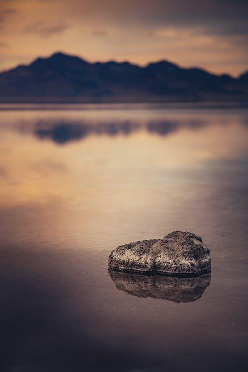 Darmowe zdjęcie z galerii z góry, jezioro, odbicie, spokojny