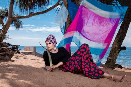 Woman Posing Near Beach