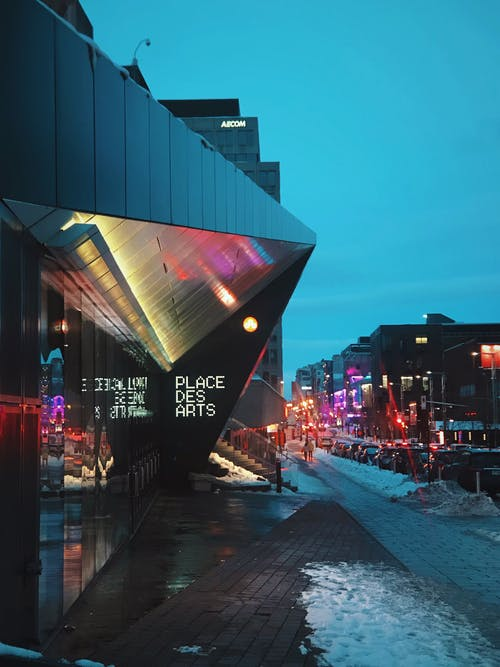 Free stock photo of architecture, blue, city, dusk