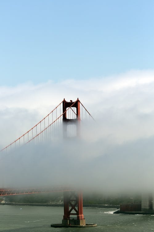 Bridge Covered by Clouds